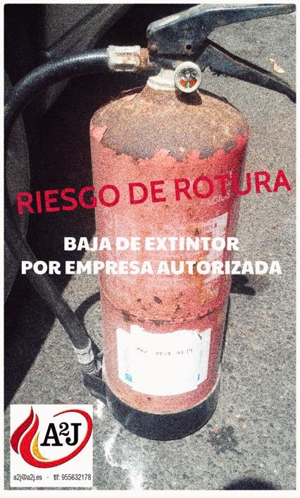 BAJA DE EXTINTORES