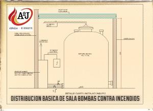 Equipo de presión contra incendios y reserva de agua pci
