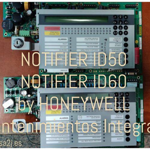 Central de alarma de  incendios Notifier ID50 y Notifier ID60