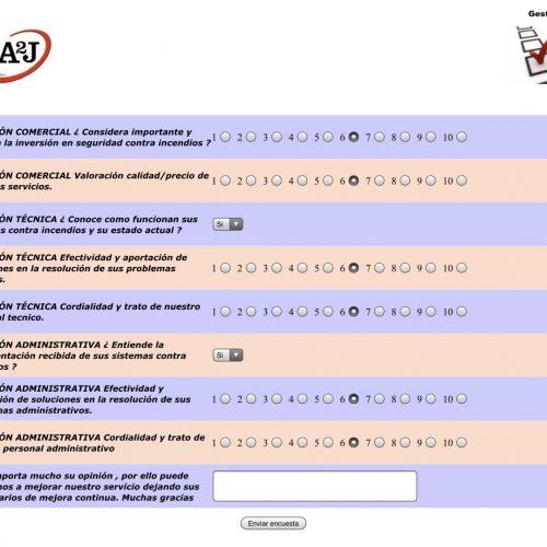 Encuestas calidad ISO 9001 extintores A2J