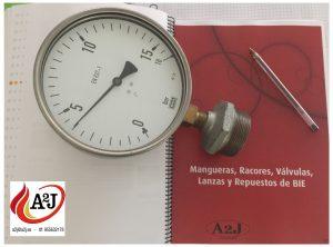manómetros contra incendios